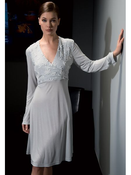 Женская сорочка с длинным рукавом из модала Verdiani VI_4220