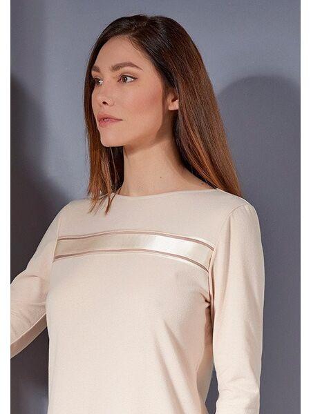 Теплое домашнее платье нежно-персикового цвета Verdiani VI_4808