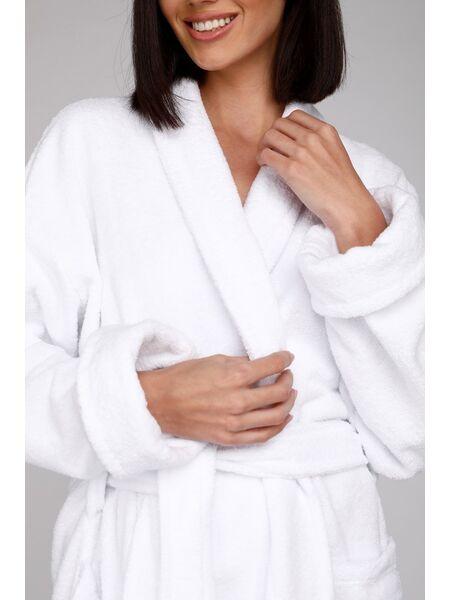 Махровый халат Arctic White (E 701)